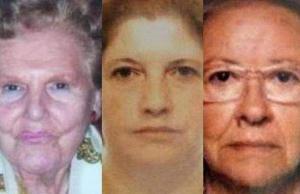 Susanna Lazzarini (al centro) e le sue due vittime