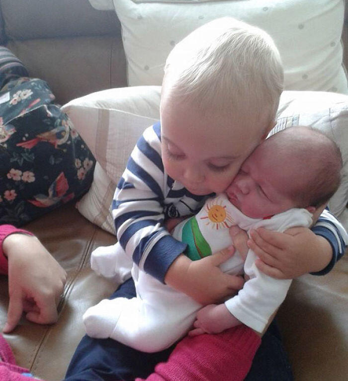 My Little Cousin Met His New Sister For The First Time Yesterday