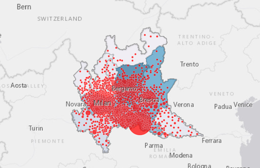 Cartina Geografica Della Provincia Di Mantova.Coronavirus In Lombardia Tutti I Contagiati Dei Comuni Della Provincia Di Mantova Dal Piu Colpito Al Meno Colpito Fronte Del Blog